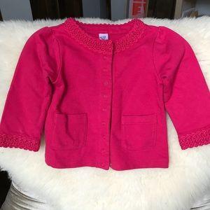 GAP Kids Girls Pink Cardigan NWT, 6-12m